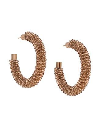 Jacquemus beaded hoop earrings - Neutro