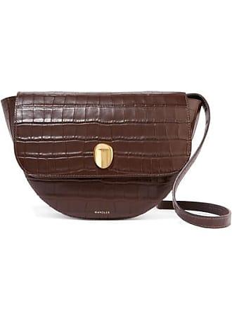 Wandler Billy Croc-effect Leather Shoulder Bag - Dark brown