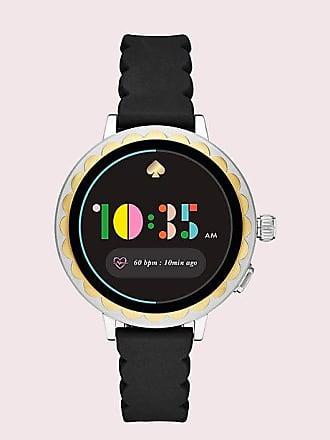 Kate Spade New York Black Silicone Scallop Smartwatch 2, Black