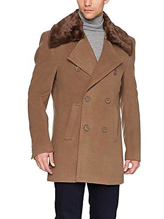 Stacy Adams Mens Zorro Double Breasted 34 Inch Topcoat, Light tan, 46