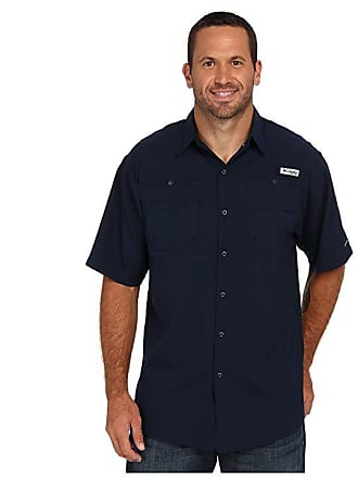 39d2d479990 Columbia Big Tall Tamiamitm II S S (Collegiate Navy) Mens Short Sleeve  Button