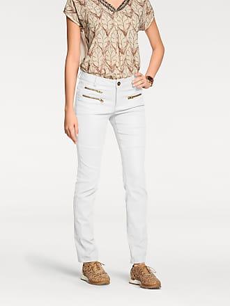 55be7dcdbcef Heine Damen Jeans mit Zippertaschen, weiß, heine STYLE, Material   Baumwolle, Elasthan