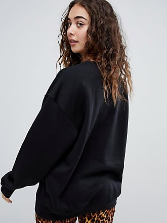4e71694e1619 Daisy Street relaxed sweatshirt with squeeze the day graphic - Black