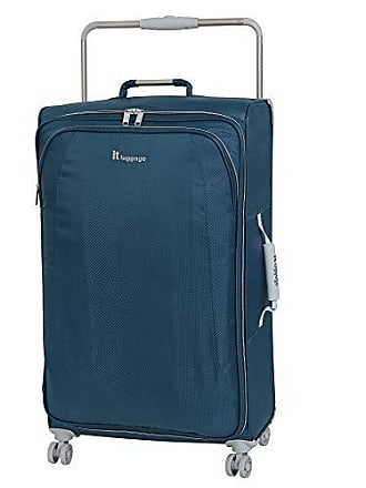IT Luggage IT Luggage 27.6 Worlds Lightest 8 Wheel Spinner, Ashes with Vapor Blue Trim