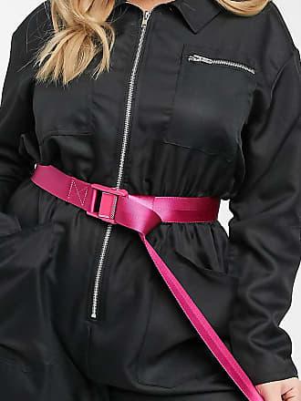 Asos Curve ASOS DESIGN Curve - Utility-Jeansgürtel mit Schnalle in Pink-Rosa