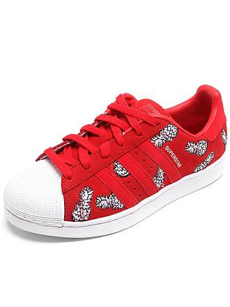 adidas Originals Tênis Couro adidas Originals Superstar W Vermelho