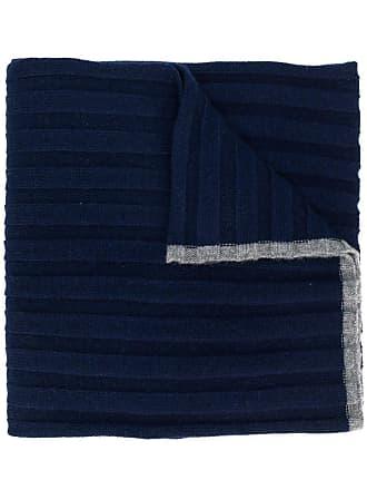 Brunello Cucinelli Echarpe canelado - Azul