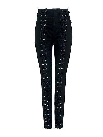 A.L.C. Kingsley High-rise Lace-up Cropped Pants Black