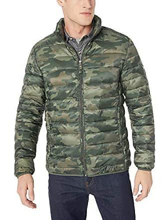 Amazon Essentials Mens Lightweight Water-Resistant Packable Puffer Jacket, Green Camo, XX-Large