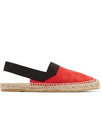 2bcf55ab1ab Delivery  free. Castaner Castañer Woman Petra Grosgrain-trimmed Suede  Espadrilles Red Size 40