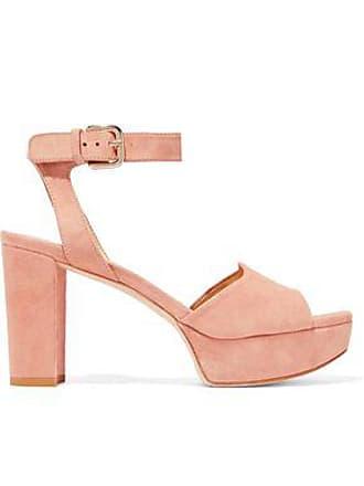 fe2786b99367 Stuart Weitzman Stuart Weitzman Woman Suede Platform Sandals Blush Size 38.5