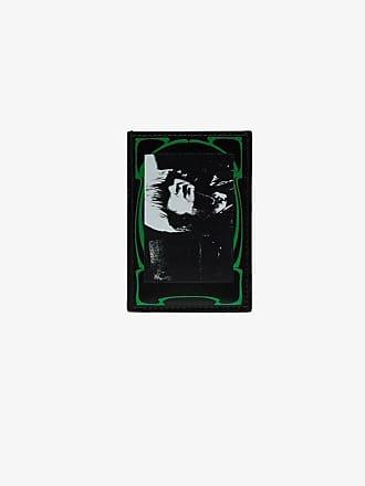 Raf Simons black and green photo print leather cardholder