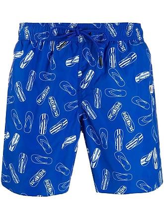 ceec5fcfabb2 Dirk Bikkembergs Costume da bagno con stampa - Di Colore Blu