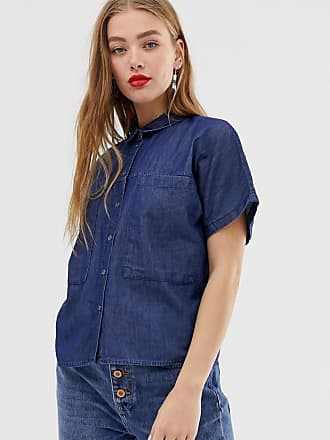 Noisy May short sleeve denim shirt - Blue