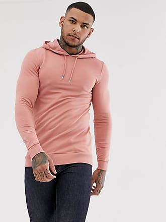 Asos muscle longline hoodie in pink - Pink