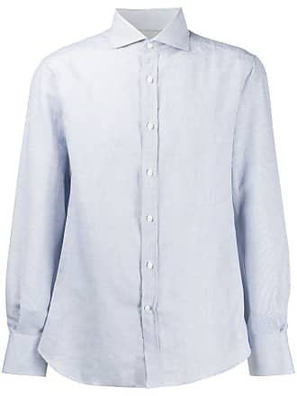Brunello Cucinelli Camisa lisa com botões - Azul