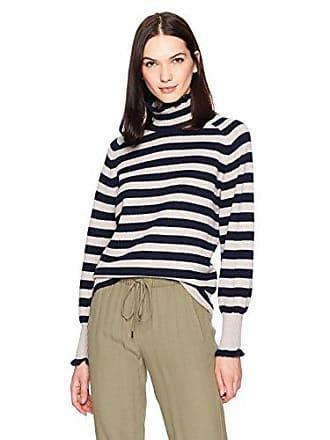 Rebecca Taylor Womens Cozy Ruffle Pullover, Marble Stripe, XS