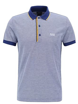 BOSS Hugo Boss Slim-fit logo polo shirt in cotton piqué XXXL Dark Blue 70adfed161e14