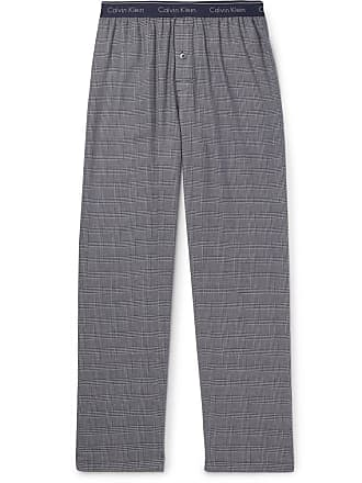 Calvin Klein Underwear Prince Of Wales Checked Cotton-blend Pyjama Trousers  - Navy fcd599e60d587