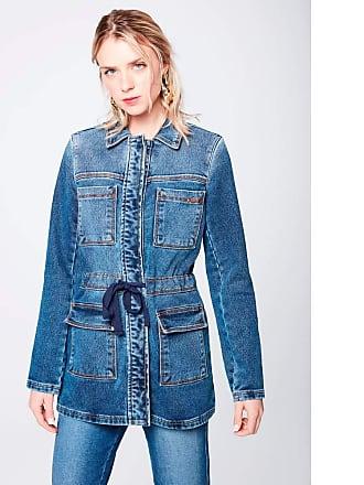 Damyller Parka Jeans Feminina Tam: PP/Cor: BLUE