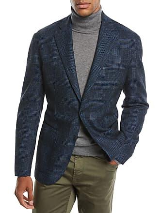 Neiman Marcus Mens Houndstooth 3-Button Sport Jacket