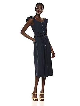 Rebecca Taylor Womens Sleeveless Midi Dress, Navy, 6