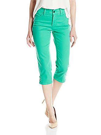 NYDJ Womens Ariel Crop Jeans with Rivets, Jade Mint, 4