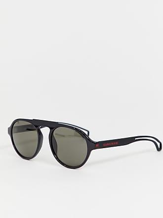 dbabde0cbd2f4 Calvin Klein Jeans CKJ19502S - Lunettes de soleil rondes - Noir