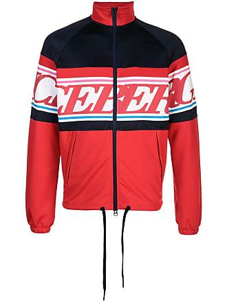Iceberg logo colour-block bomber jacket - Red
