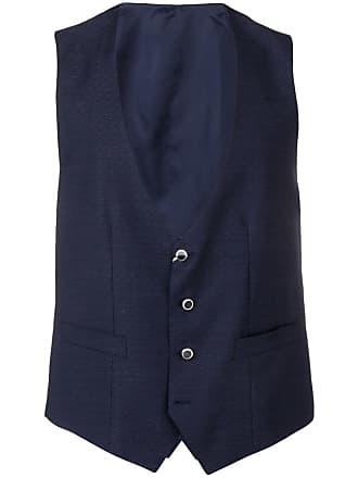 Canali v-neck waistcoat - Blue