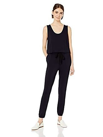 Daily Ritual Womens Supersoft Terry Sleeveless Jumpsuit, Navy, X-Large