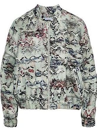 Iro Iro Woman Oriana Leather-trimmed Snake-print Linen Jacket Mint Size 38
