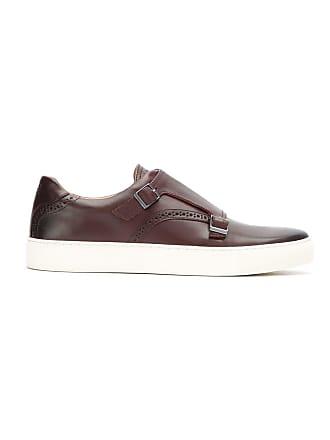HUGO BOSS Sapato de couro com fivelas - Marrom
