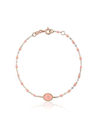 Gigi Clozeau Pulseira RG de ouro rosê com diamante - Rosa