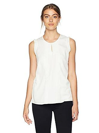 12fb793d9646d Calvin Klein Womens Sleeveless Top with Keyhole and Pleating
