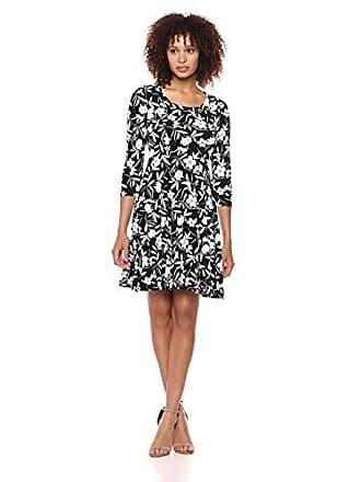 Karen Kane Womens 3/4 Sleeve A-LINE Dress, Print, Large
