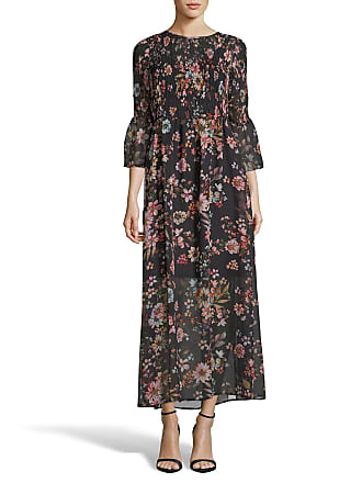 5twelve Smocked Floral Flare-Sleeve Maxi Dress