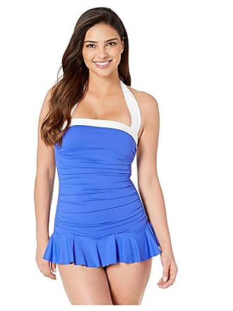 48fcf5c4b5526 Ralph Lauren Bel Aire Solid Skirted Mio One-Piece (Royal) Womens Swimsuits  One