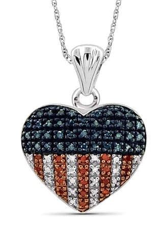 JewelersClub JewelersClub 1/4 Carat T.W. Multi-Color Diamond Heart Sterling Silver Pendant