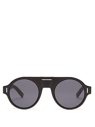 Lunettes Dior Diorfraction2 Round Acetate Sunglasses - Mens - Black