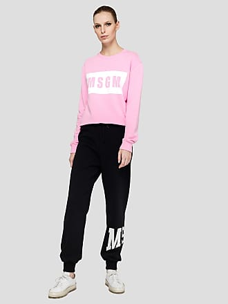 Msgm jogging trousers with msgm college print
