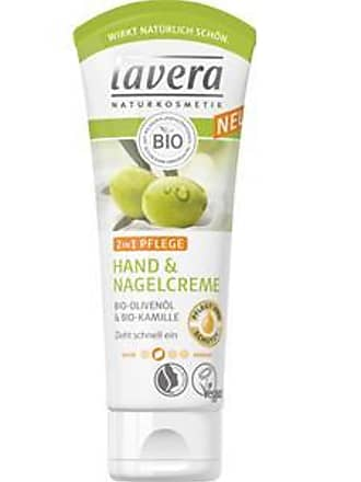Lavera Handpflege Bio-Olivenöl & Bio-Kamille Hand- und Nagelcreme 2 in 1 Pflege 20 ml