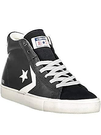 1785b76330 Converse Unisex-Erwachsene Lifestyle Pro Leather Vulc Distressed Mid  Sneakers, Mehrfarbig (Black/