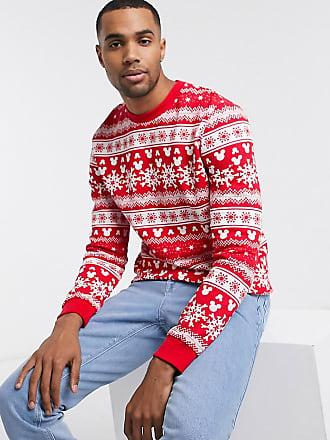 Asos Tall - Sweatshirt met Mickey Mouse-print en kerstmotief-Wit