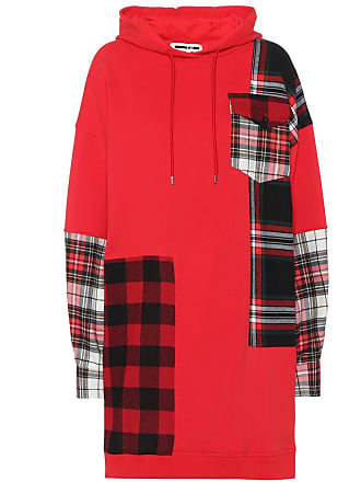 McQ by Alexander McQueen Plaid patch cotton hoodie