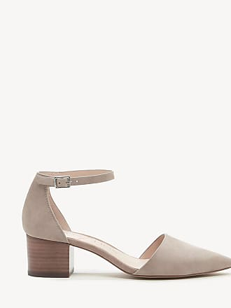 Sole Society Womens Katarina Two Piece Block Heels Pumps Taupe Size 9.5 Suede From Sole Society