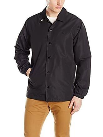 Obey Mens Highline Coaches Jacket, Black, 2XL