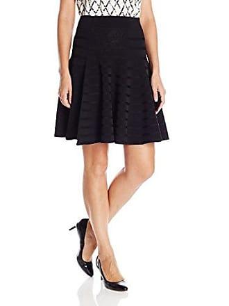 9dec86eae0 Ivanka Trump Womens Fit and Flare Skirt, Black, X-Small