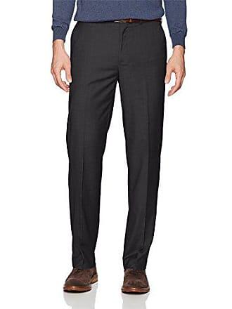 Dockers Mens Straight Stretch Signature Dress Pant, Black, 32W x 34L