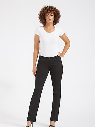 Alloy Apparel Tall Skinny Twill Bootcut Plus Size Pants for Women Black 15/35 - Cotton